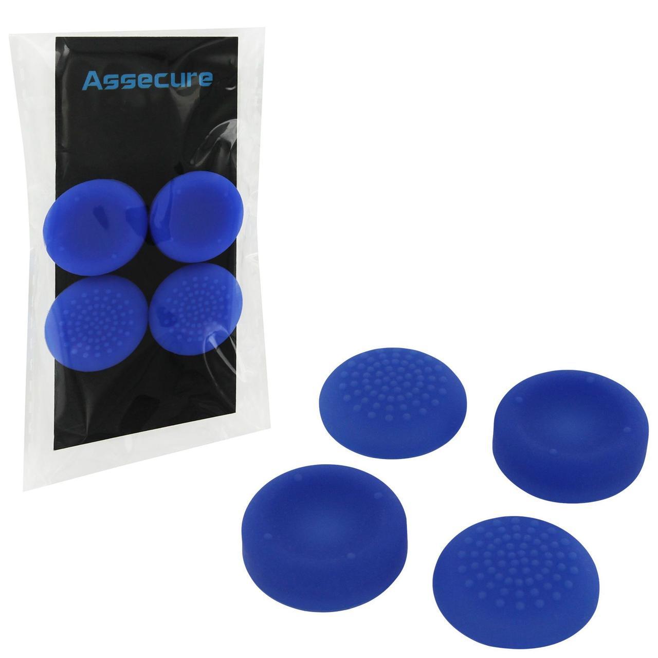 Силіконові насадки Assecure для Dualshock 4 (Blue)