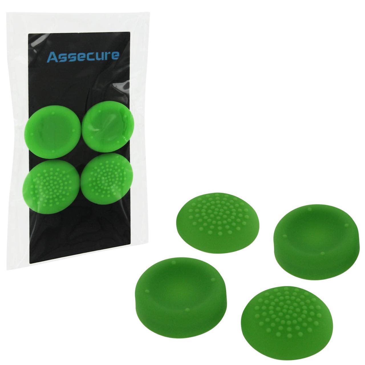 Силіконові насадки Assecure для геймпадів Dualshock 4 (Green)