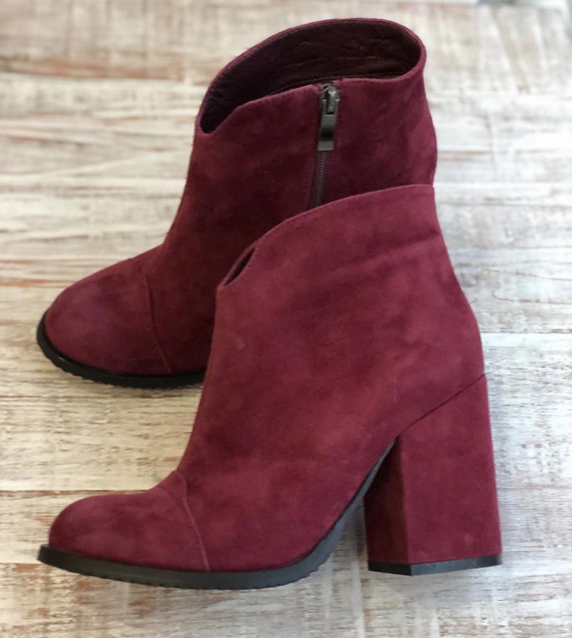 Кожаные Женские ботинки 927 размер 39