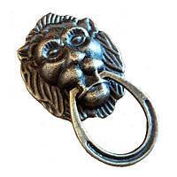 Ручка Голова льва 28х49 мм, бронза