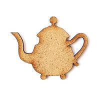 Заготовка для декора Чайник ДВП, 5 см