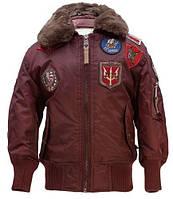 Дитяча куртка-бомбер Top Gun Kids B-15 Bomber Jacket TGKB15 (Burgundy)