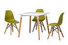 Обеденный стол TM-30 белый Vetro Mebel 80х80 см, ножки из бука, фото 4