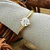 Кольцо Xuping 15069 размер 20 ширина 6 мм вес 1.5 г белые фианиты позолота 18К, фото 5