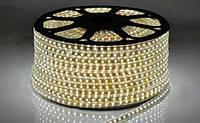 """Светодиодная LED лента гибкая 220V PROlum IP68 5730\72 Series """"S"""", Белый (5500-6000К)"""
