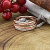 Кольцо Xuping 15075 ширина 8 мм белые фианиты позолота РО размер 19, фото 5