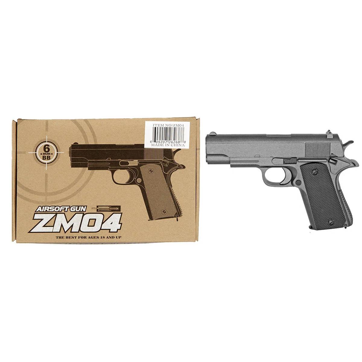 Детский игрушечный металлический пистолет для мальчика CYMA ZM04 L 00020 с пулями