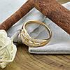 Кольцо Xuping 15062 размер 19 ширина 8 мм вес 3.5 г белые фианиты позолота 18К, фото 4
