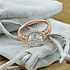 Кольцо Xuping 15100 размер 19 ширина 12 мм вес 4.3 г белые фианиты позолота РО, фото 3