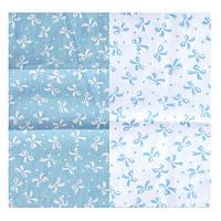 Набор тканей Бантики голубые 2 вида 50х50 см