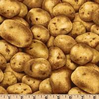 Ткань для пэчворка Овощи. Картошка 47х56 см