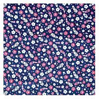 Ткань 50х100 см Синяя с мелкими цветочками