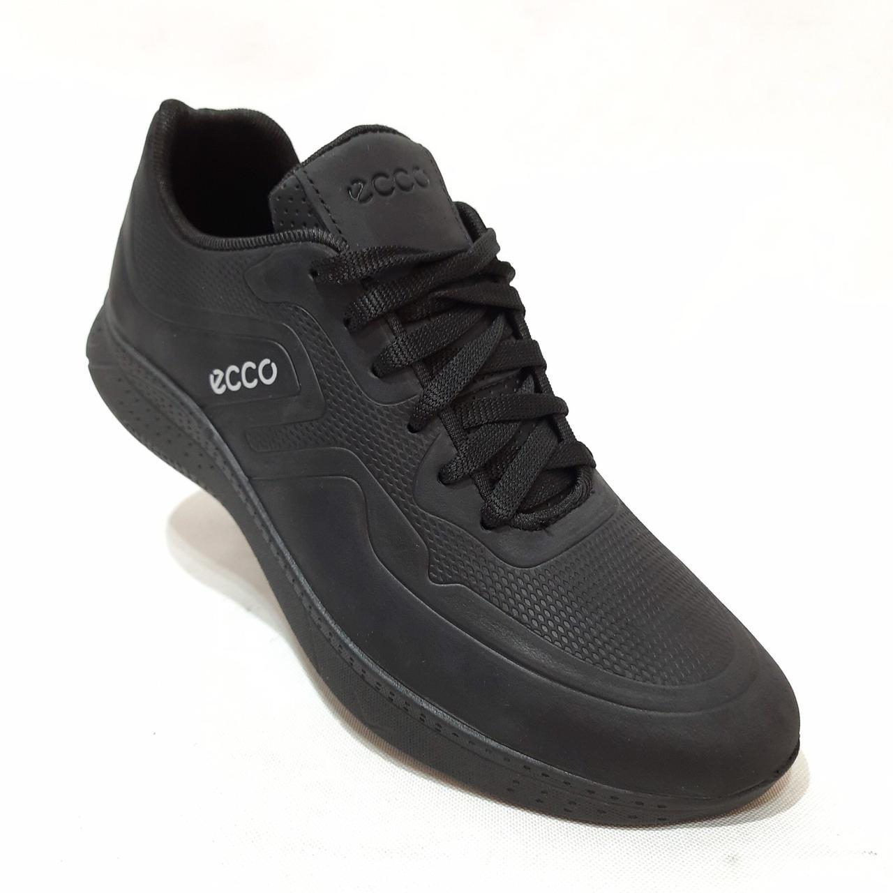 Мужские кроссовки натуральная кожа / Черные / размеры 40,45