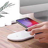 Беспроводное зарядное устройство Baseus 2 in1 Wireless Charger Pad White, фото 5