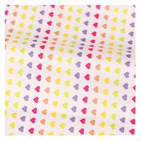 Водоотталкивающая ПВХ ткань Сердечки 150х145 см