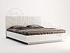 Кровать 1,8х2,0, спальня Фемели, белый глянец, МИРОМАРК