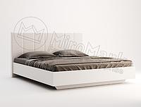 Кровать 1,8х2,0, спальня Фемели, белый глянец, МИРОМАРК, фото 1