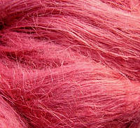 Льняное волокно для мокрого валяния, бордовое №3