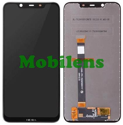Nokia 8.1, TA-1119 Дисплей+тачскрин(модуль) черный, фото 2