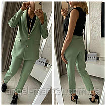 Женский брючный классический костюм тройка . Пиджак+блузка+ брюки.Новинка 2020.