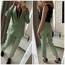Жіночий класичний брючний костюм трійка . Піджак+блузка+ штани.Новинка 2020.