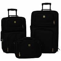 Набір валіз Bonro Best 2 шт +сумка чорний