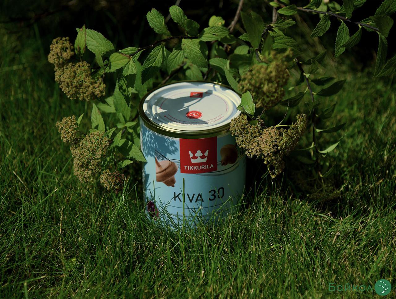 Полуматовый лак для мебели Kiva 30 – Tikkurila (банка 0,9 л)