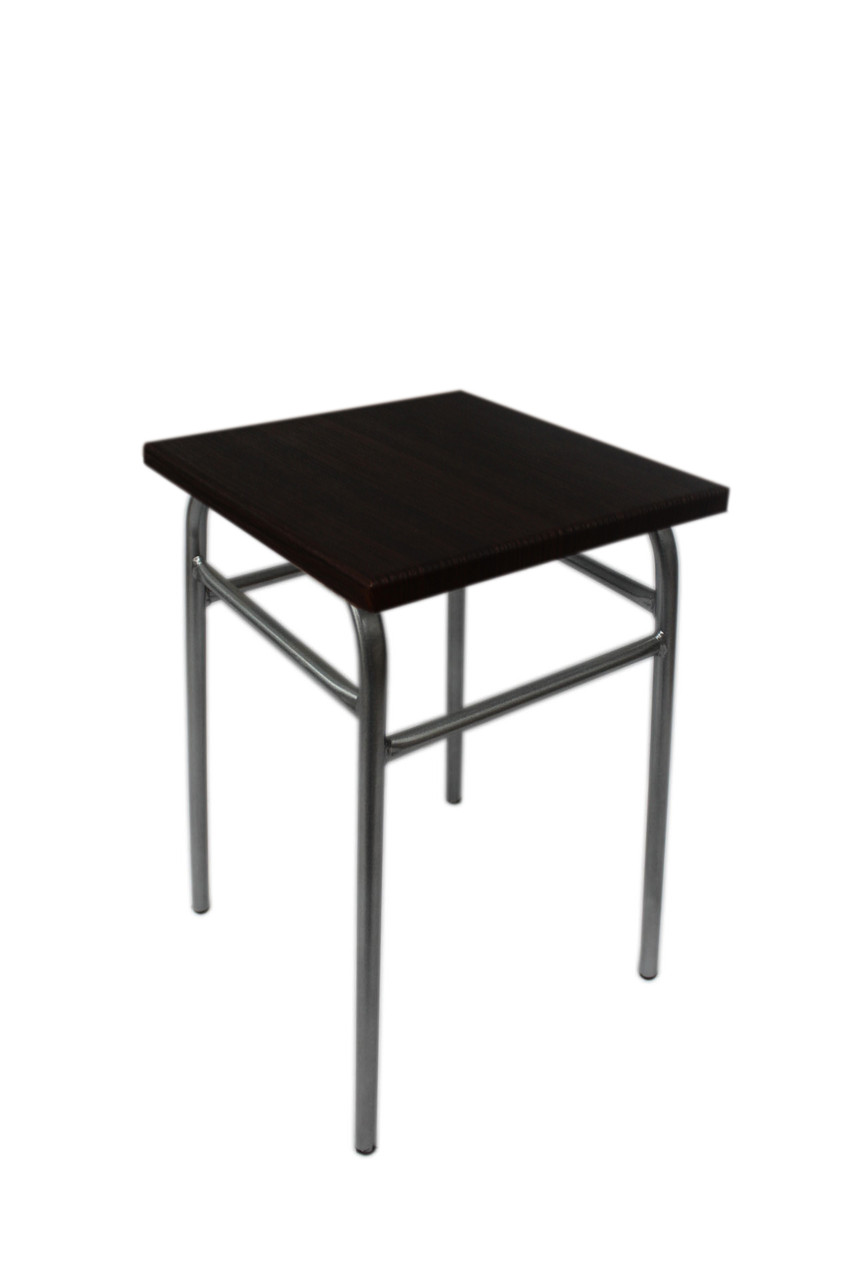 Табуретка кухонна колір каркаса Chrom, сидушка - венге