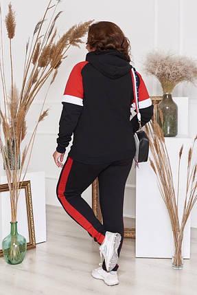 """Женский трикотажный спортивный костюм """"NIKЕ"""" с карманами и капюшоном (большие размеры), фото 2"""