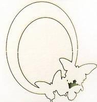 Чипборд Рамка овальная с бабочками 286