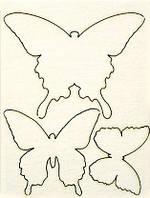 Чипборд Бабочки, 3 шт. 217