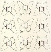 Чипборд Пряжки-бабочки 9 шт., 304