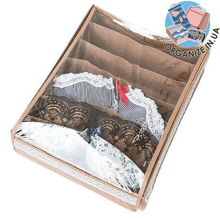 Коробка с крышкой для бюстиков ORGANIZE (бежевый), фото 2