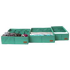 Комплект органайзеров  для нижнего белья 3 шт ORGANIZE (лазурь), фото 2