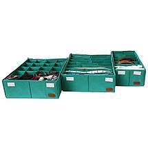 Комплект органайзеров  для нижнего белья 3 шт ORGANIZE (лазурь), фото 3