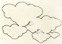 Чипборд Хмари малі