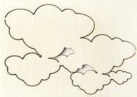Чипборд Облака малые