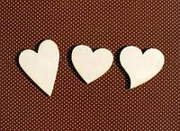 Чипборд Набор сердечек 3 шт. 035