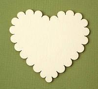 Чипборд Сердечко волнистое 8 см