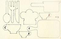 Чипборд Набір посуду 9 од. 002