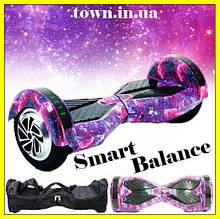 Гироскутер Smart Balance Wheel 8 дюймов розовый космос для детей и взрослых