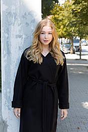Стильне чорне пальто  від бренду VEREZHIK HOUSE