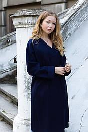 Стильне синє пальто  від бренду VEREZHIK HOUSE
