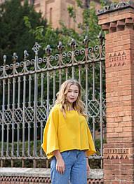 Яскраво жовте пальто від бренду VEREZHIK HOUSE