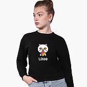 Свитшот для девочки Лайк Котик (Likee Cat) (9509-1036) Черный