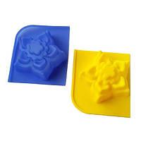 Силиконовая форма для мыла Весенние цветы, 2 шт.