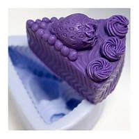 Форма для мыла силиконовая Клубничный пирог