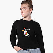 Свитшот для девочки Лайк Котик (Likee Cat) (9509-1039) Черный