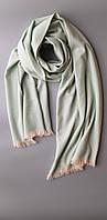 Шарф из беби кашемира Chadrin из коллекции Elite нежно мятно - бирюзового цвета, фото 1