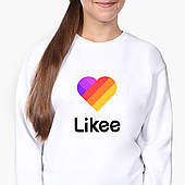 Свитшот для девочки Лайк (Likee) (9509-1041-8) Белый